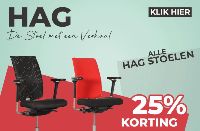 25% korting op alle HAG stoelen!